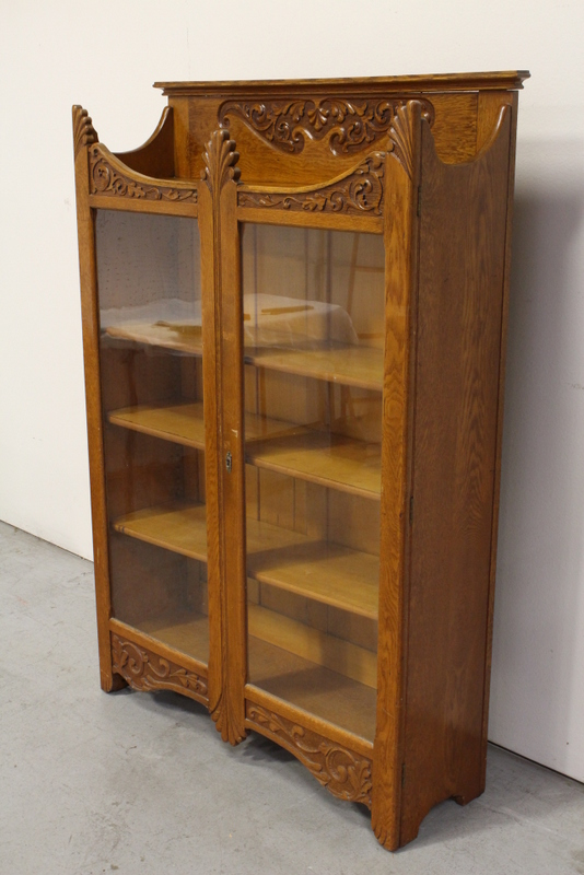Victorian Oak Display Case