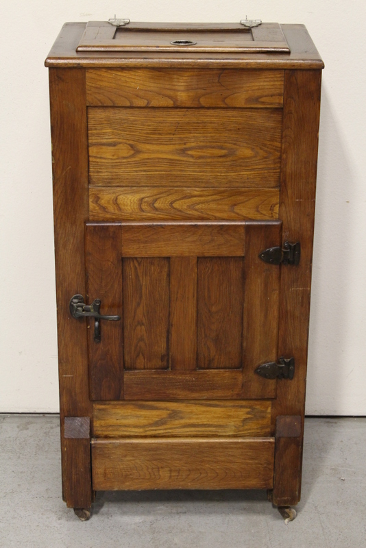 Victorian Oak Ice Box