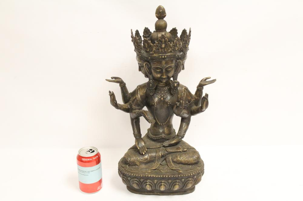 451407de84a6 Large Chinese bronze sculpture of deity