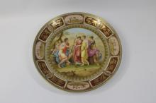 hand painted Royal Vienna porcelain plate