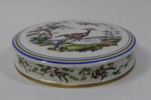 Antique French Limoge porcelain box