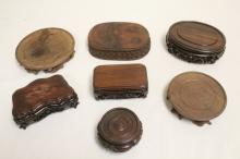 7 Chinese hand carved stands