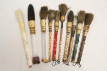 10 Chinese painting brushes