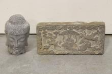 2 Chinese stone carvings