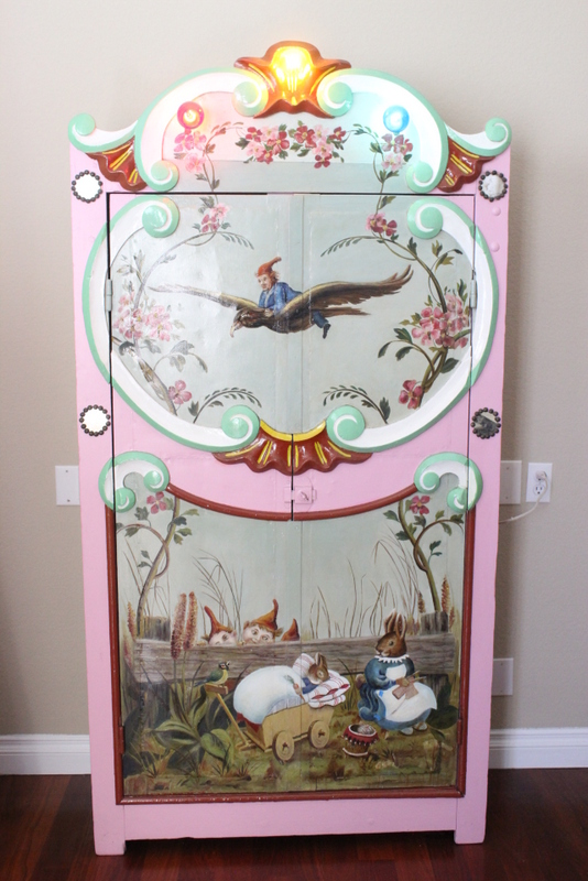 A Victorian painted children cabinet