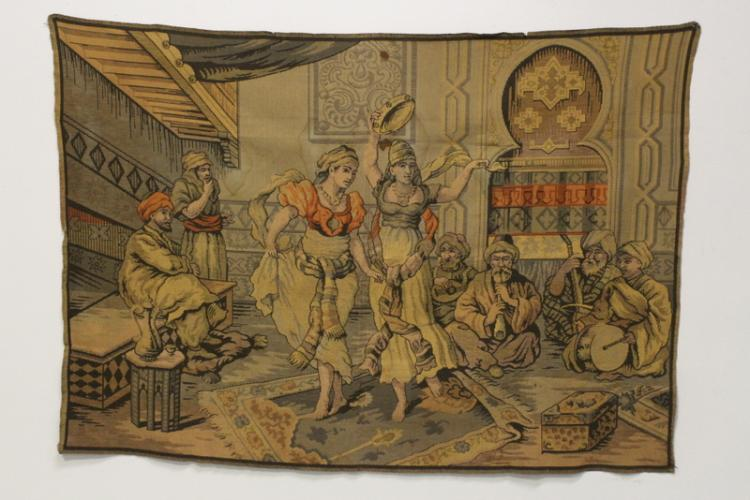 A large wall hanging tapestry