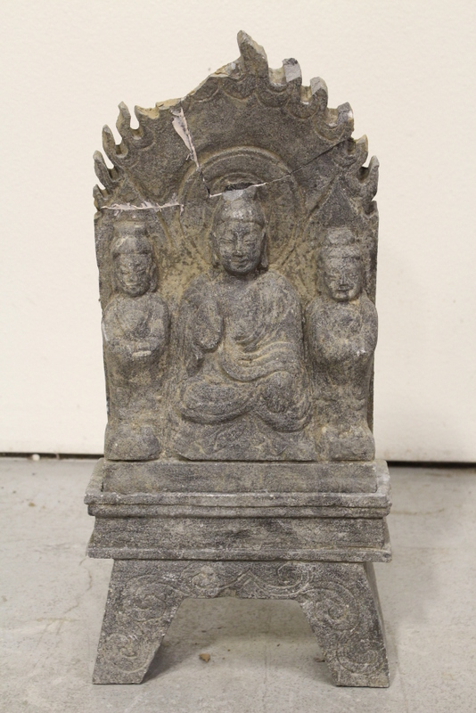 Chinese stone carved multi-Buddha plaque