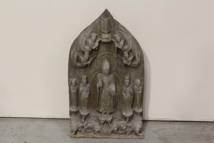 Chinese stone carved plaque