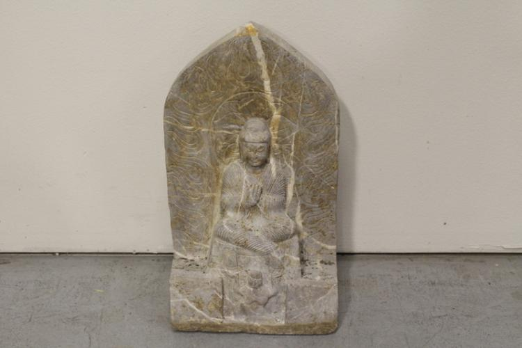Chinese stone plaque with Buddha
