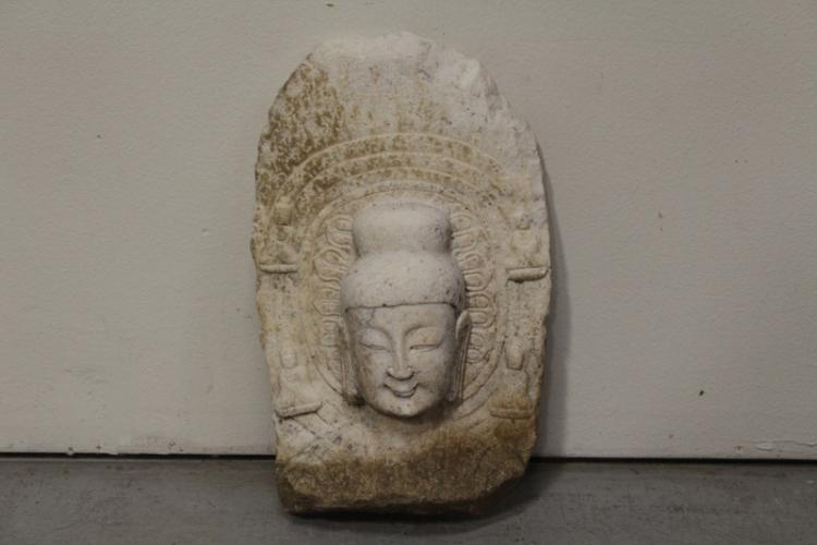 Chinese stone carved Buddha fragment