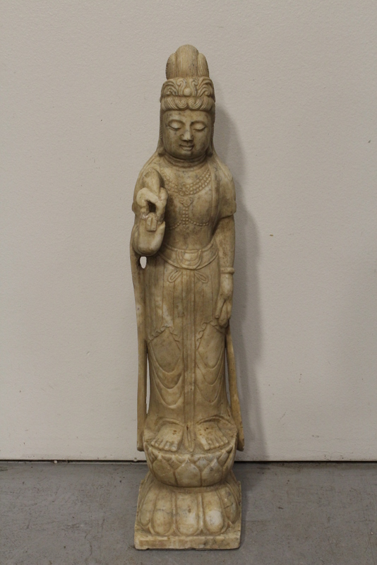 Chinese marble carved standing Buddha