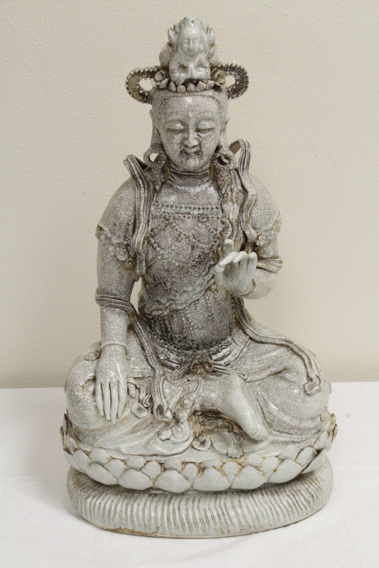 Chinese Song yingqing style porcelain Buddha