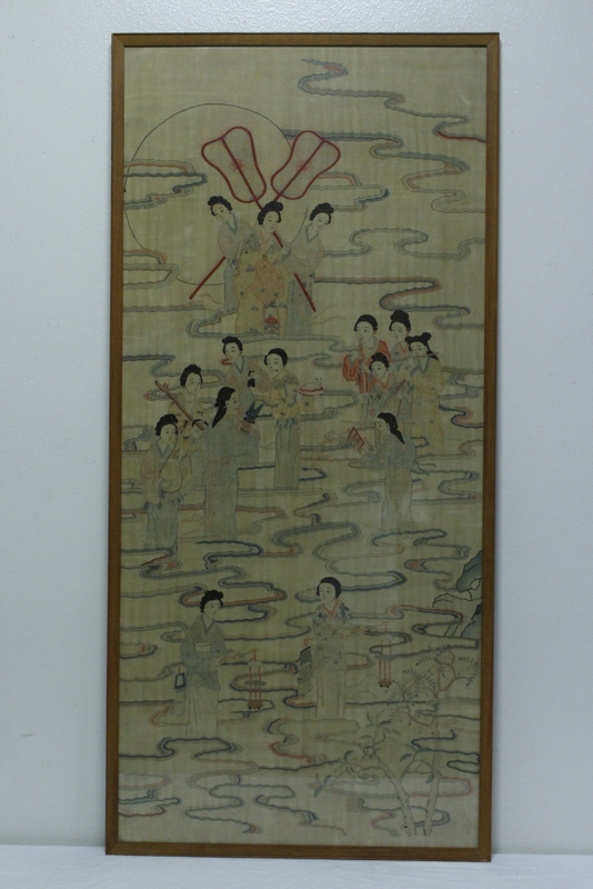 A large Chinese antique kesi panel