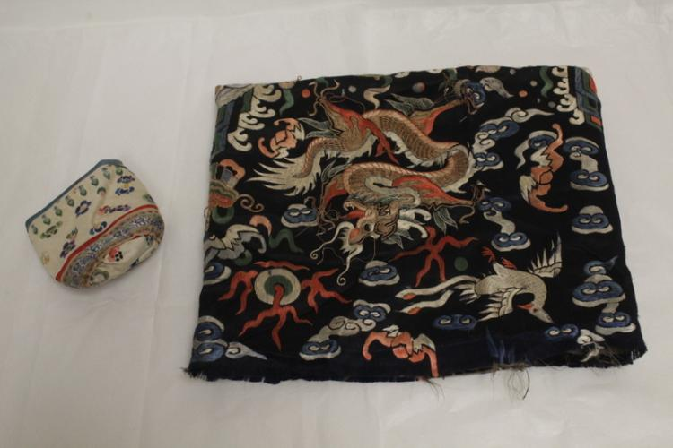 2 Chinese embroidery pieces