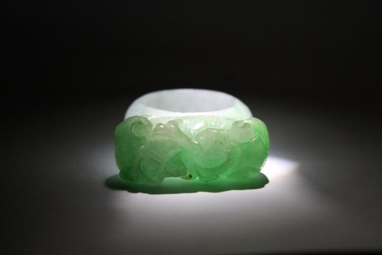 Chinese antique jadeite bangle ring