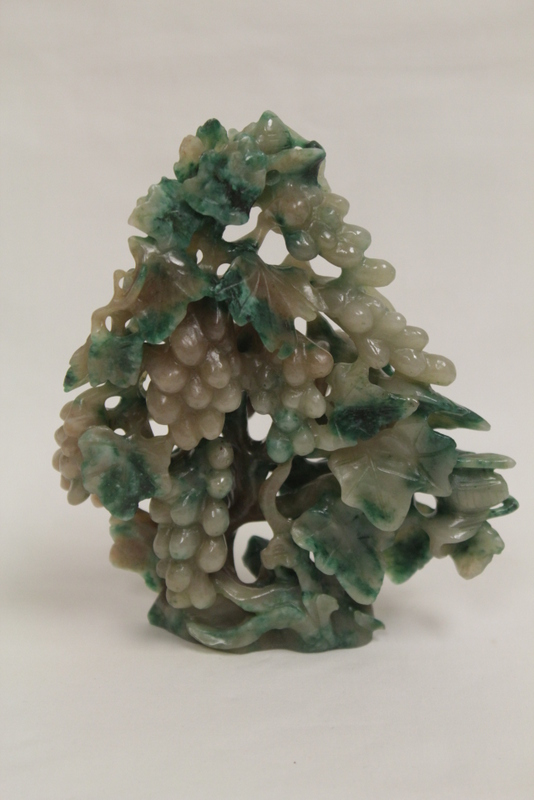 Chinese 19th/20th c. jadeite like stone carving