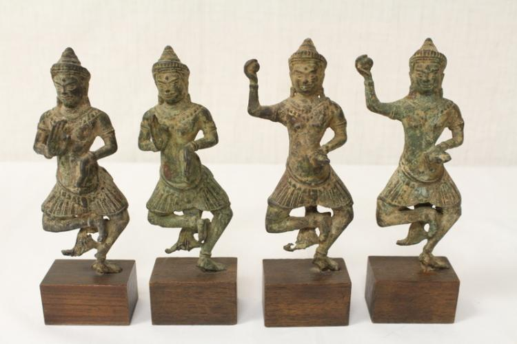 4 antique South Asia bronze sculpture