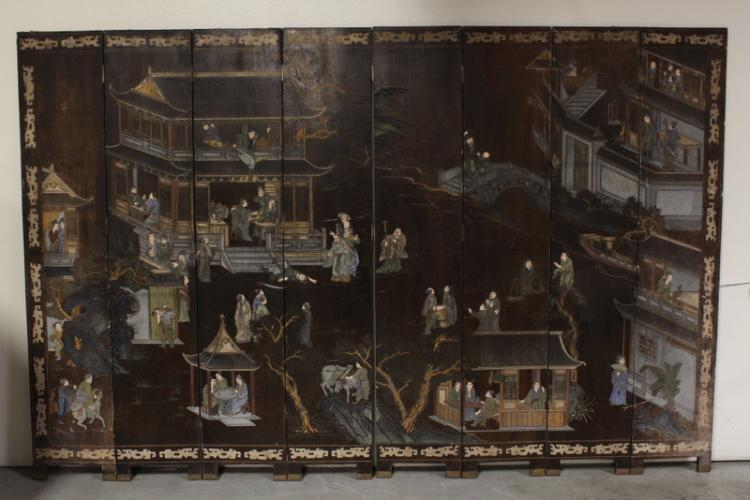 Chinese 18th/19th c. coromandel room divider