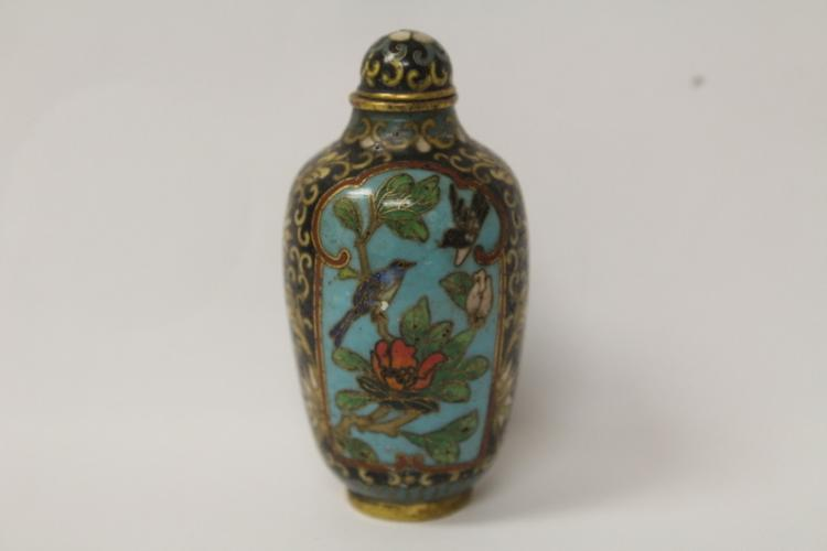 Chinese vintage cloisonne snuff bottle