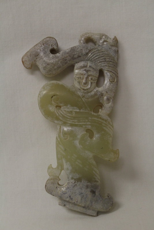Chinese partially calcite jade carving