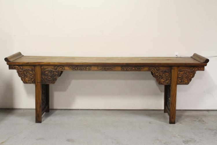 Unusually large Chinese altar table