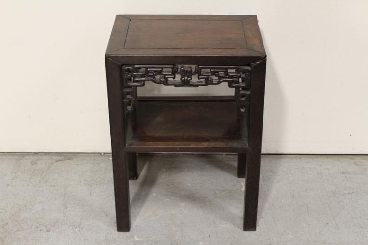 Chinese antique rosewood rectangular low table