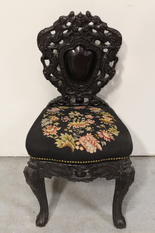 Unusual Chinese antique rosewood side chair