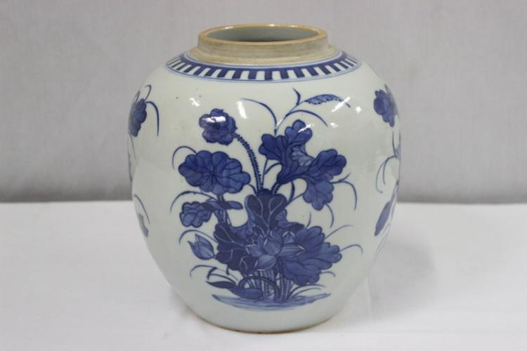 Chinese b&w porcelain jar, Chenghua mark
