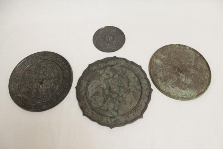 4 Chinese bronze mirrors