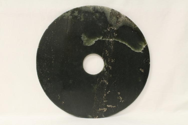 Large Chinese green jade disc