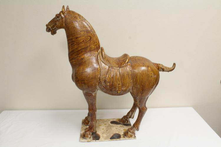 A large Tang jiaotai pottery horse