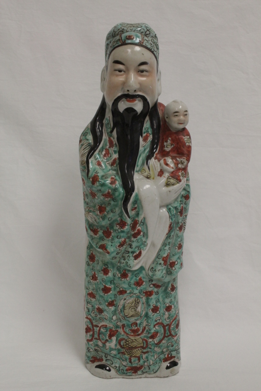 Chinese famille rose porcelain Daoism god