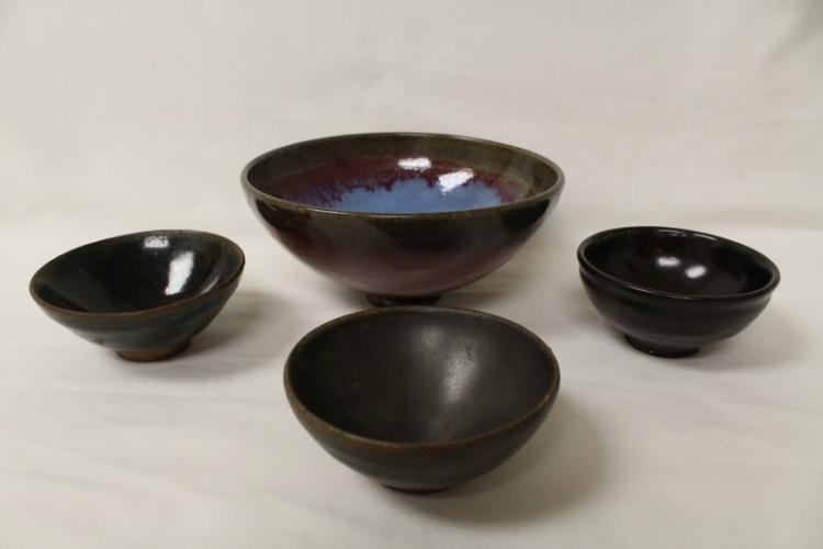 4 Song style porcelain bowls