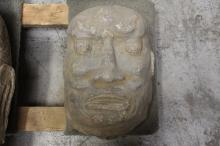 Chinese stone carved Lohan's head