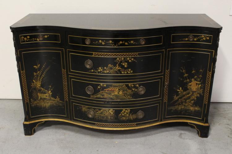 early 20th c. chinoiserie chest of drawers