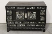 A vintage Korean lacquer cabinet with MOP inlaid