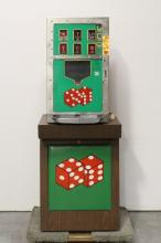 An extremely rare 25¢ dice slot machine