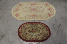 2 American hook rugs