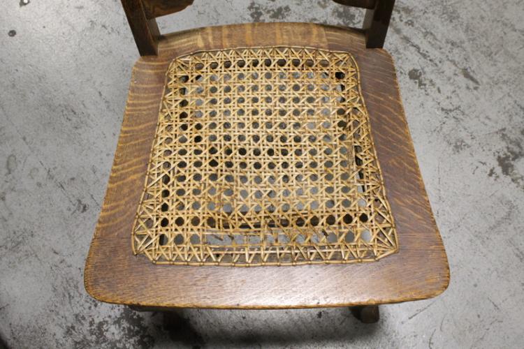 Remarkable 19Th Century 6 Pieces Tiger Oak Dining Room Set Short Links Chair Design For Home Short Linksinfo
