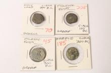 4 Greece ancient coins
