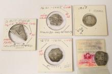 5 antique silver coins