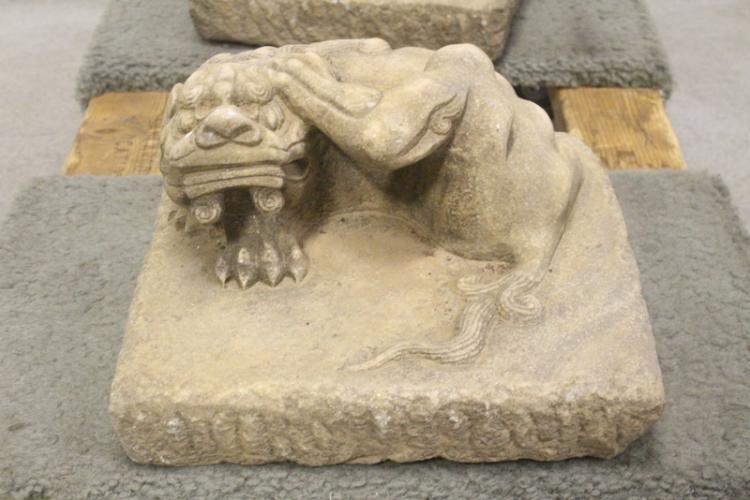Carved Stone Slab : Pair chinese marble carved slabs