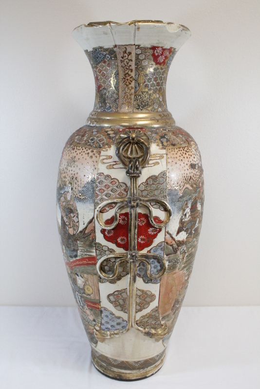 Large antique japanese satsuma vase for Asian antiques uk