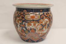 Antique Japanese Imari porcelain planter