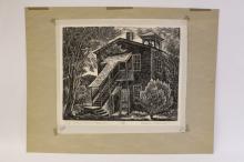 Woodblock print by Charles Surendorf