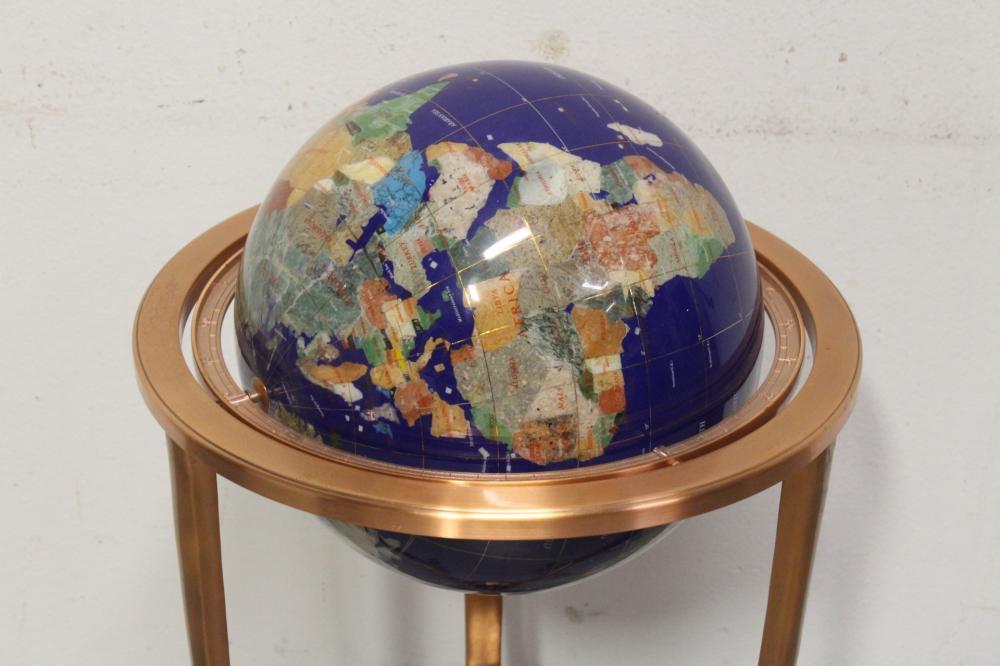 Lot 51: A floor globe