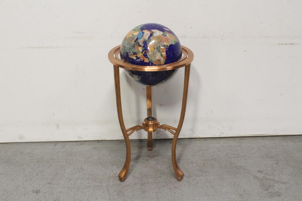 A floor globe