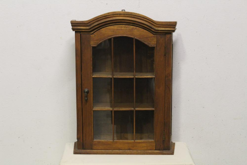 Oak wall hanging display case