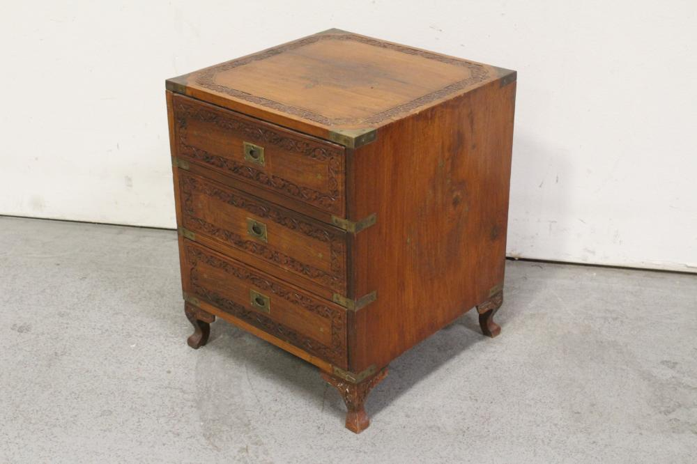 Lot 83: vintage Chinese rosewood small chest of drawers