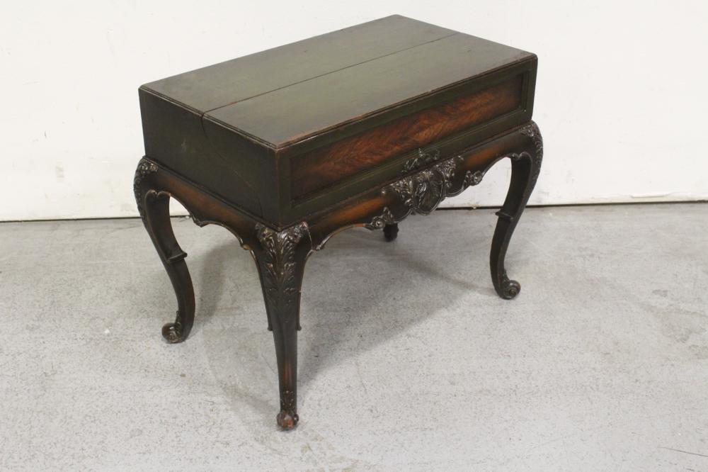 Lot 84: A rare Victorian mahogany child lift top desk